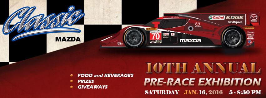 Classic Mazda Pre-Rolex Exhibition Event // 1-16-16